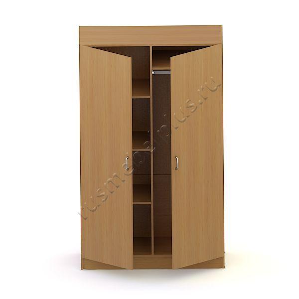 Шкаф для одежды 2-створчатый (комбинированный) АРМ-02