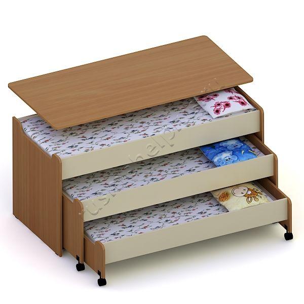Кровать 3-ярусная ДМ-74