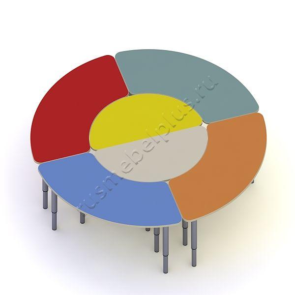 Стол «Ромашка» 6-секционный ДМ-78