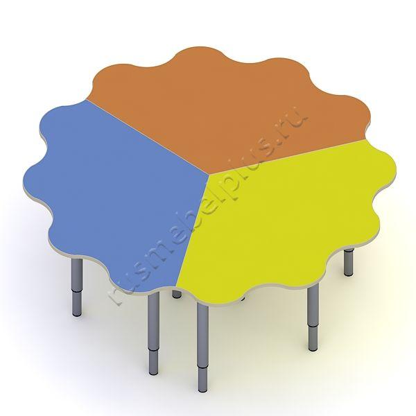 Стол «Ромашка» 3-секционный ДМ-79