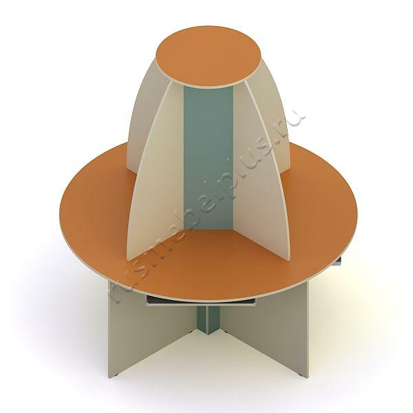 Стол компьютерный круглый ДМ-86