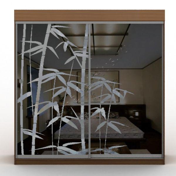 Двери шкафов-купе зеркальные с рисунком