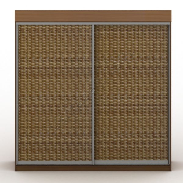 Двери шкафов-купе из ротанга