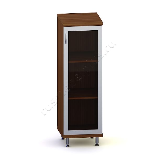 Шкаф-пенал низкий со стеклом ИКДШПН-02