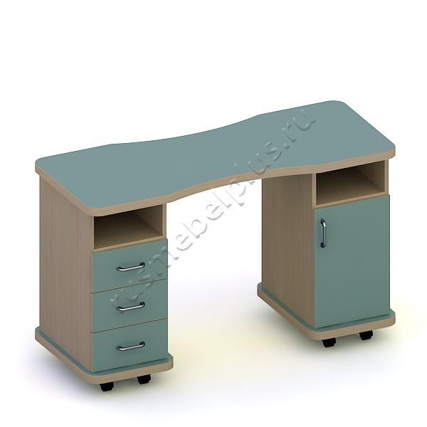 Стол маникюрный Эсти двойной ПМ-17